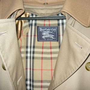 BURBERRY Tan Rain Coat Trench Men's 38 Regular